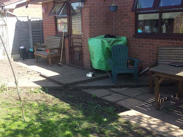 Resin Patio Before Image - Winsford