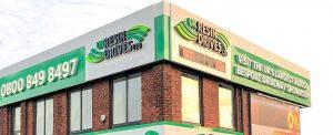 UK Resin Drives Showroom, daytime